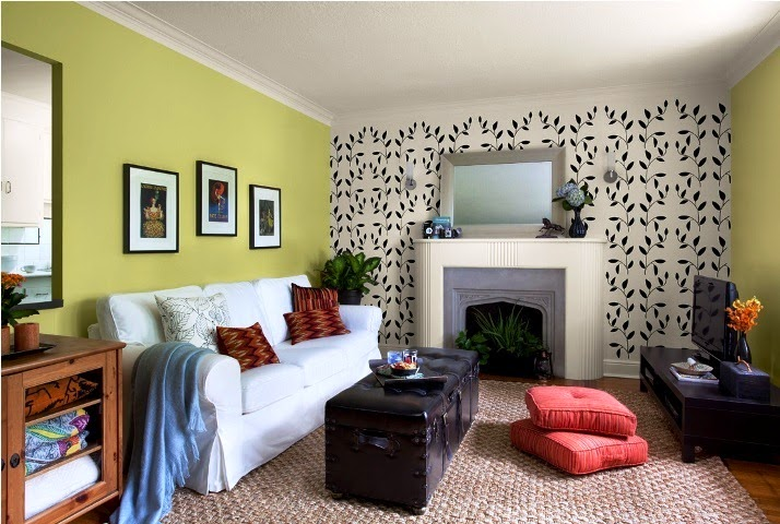 Best paint color for accent wall in living room for Small room wall color