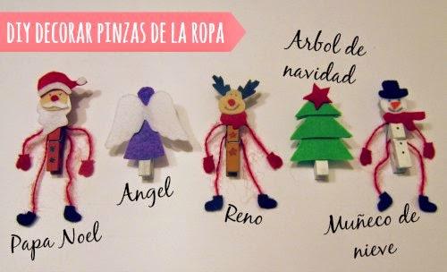 Adornos de navidad con pinzas de la ropa ideas chulas - Adornos de navidad 2014 ...
