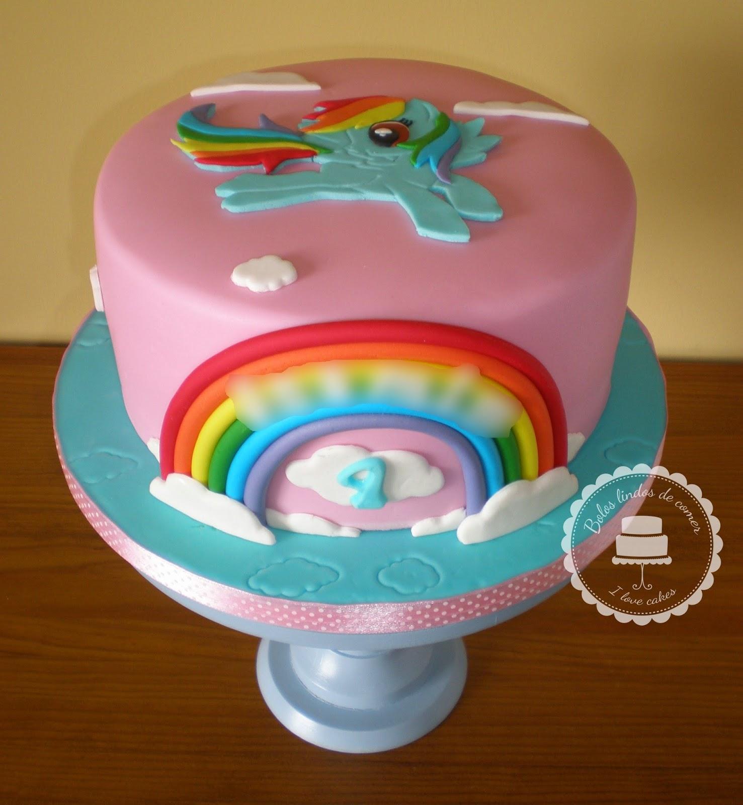 Bolos lindos de comer bolo rainbow dash rainbow dash cake for Rainbow dash cake template