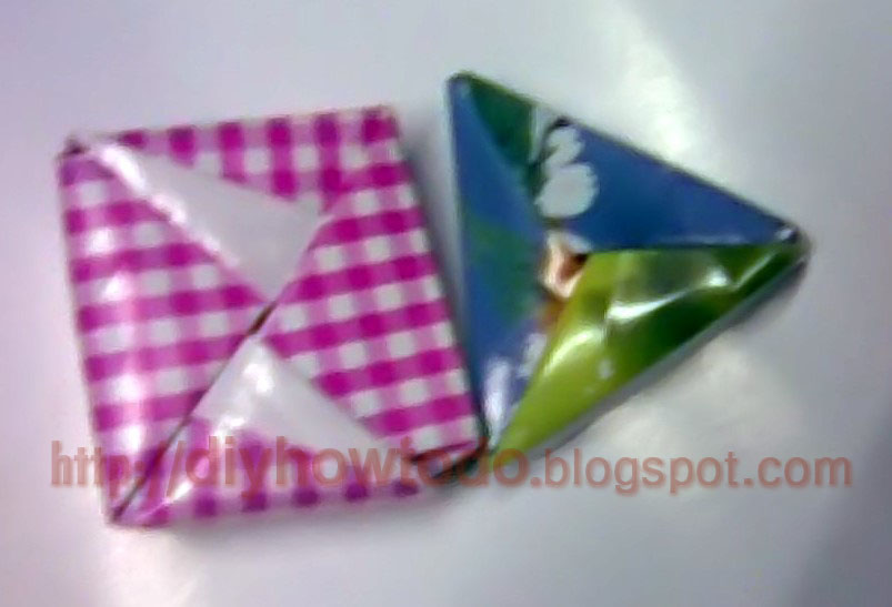 reuse,recycle triangle box lid,fold paper