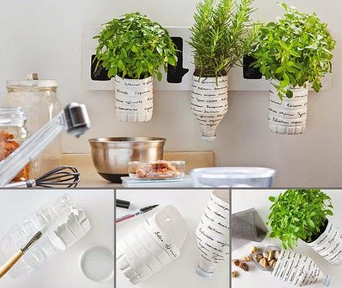 Como hacer macetas para hierbas hechas con reciclaje paso a paso