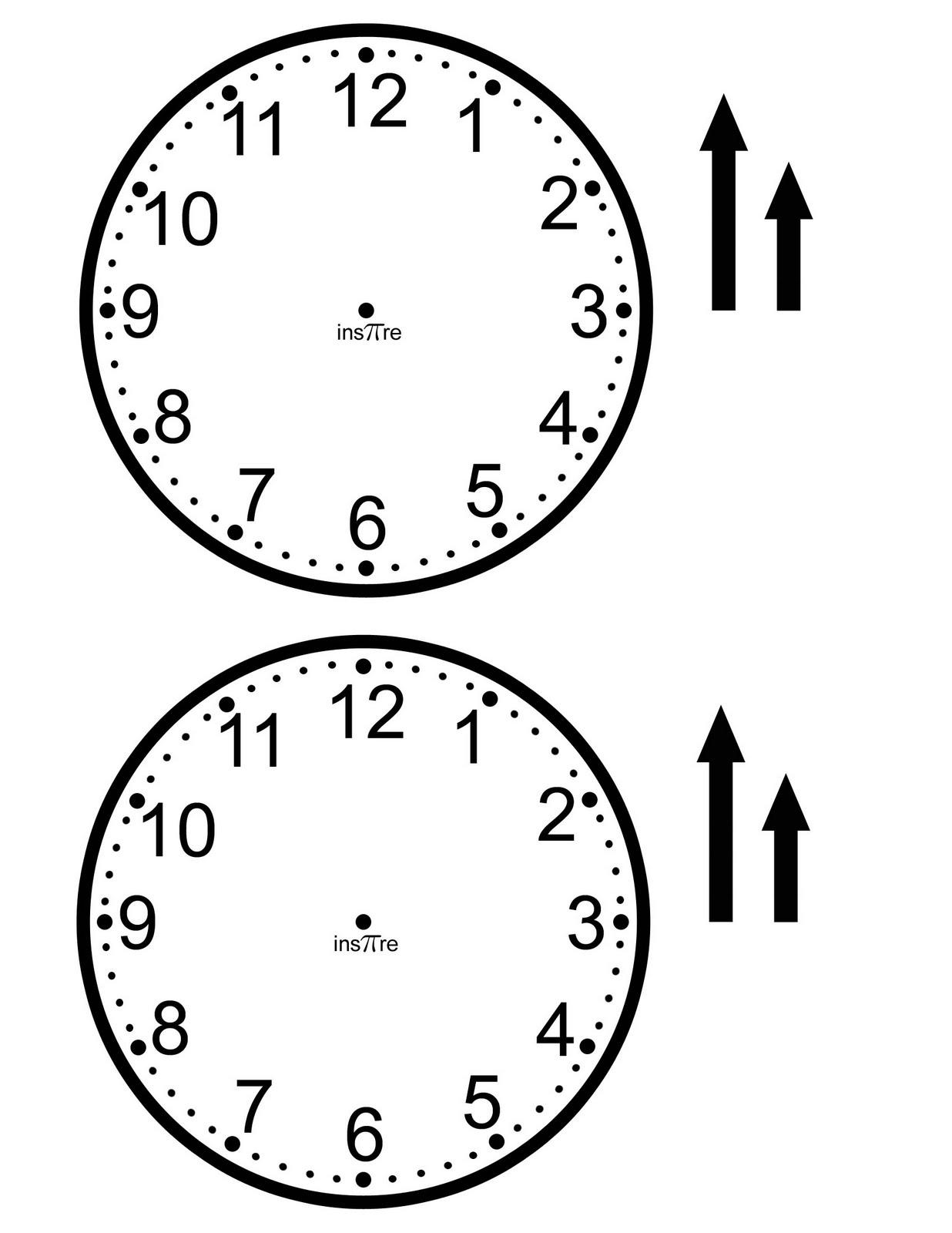 Printable Clock Face Back the clock face onto