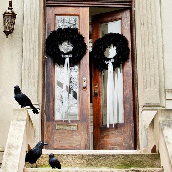Modern Halloween Decor: Modern Furniture: Halloween 2013 Entry Decorations Ideas