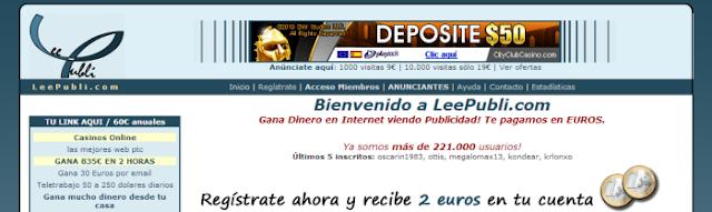 Leepubli (Ganar por clickar anuncios, registrarte en Sitios Webs y Autosurf)