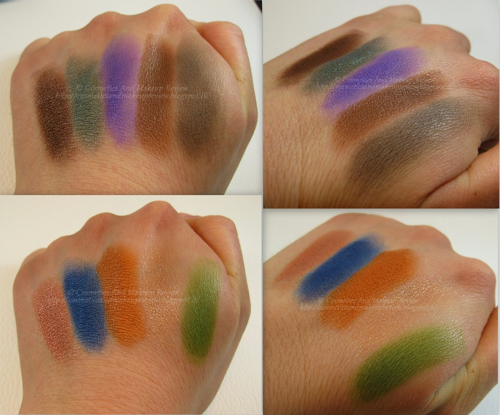 Neve Cosmetics - Makeup Delight Palette - swatches