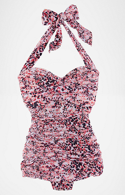 Retro Pink Leopard Swimsuit