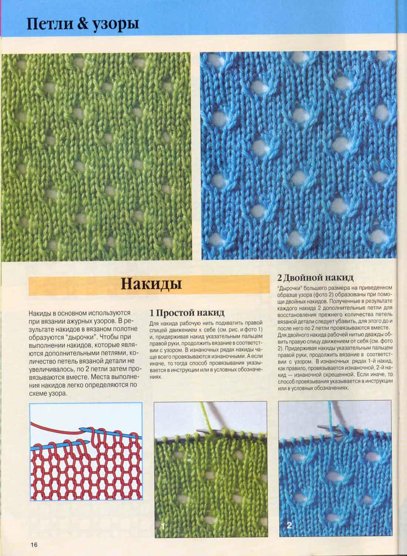 Узоры вязание с дырочками