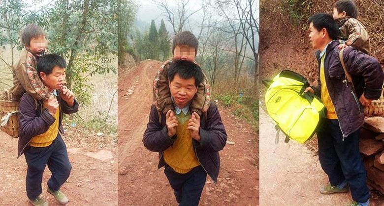 Tiap Hari Menempuh 28 Kilometer Dengan Menyekolahkan sang Anak