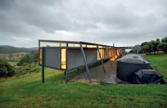 Home Decor Stunning New Zealand Glass House With Minimalist Interiors
