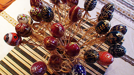 Великденска декорация - Букет от яйца