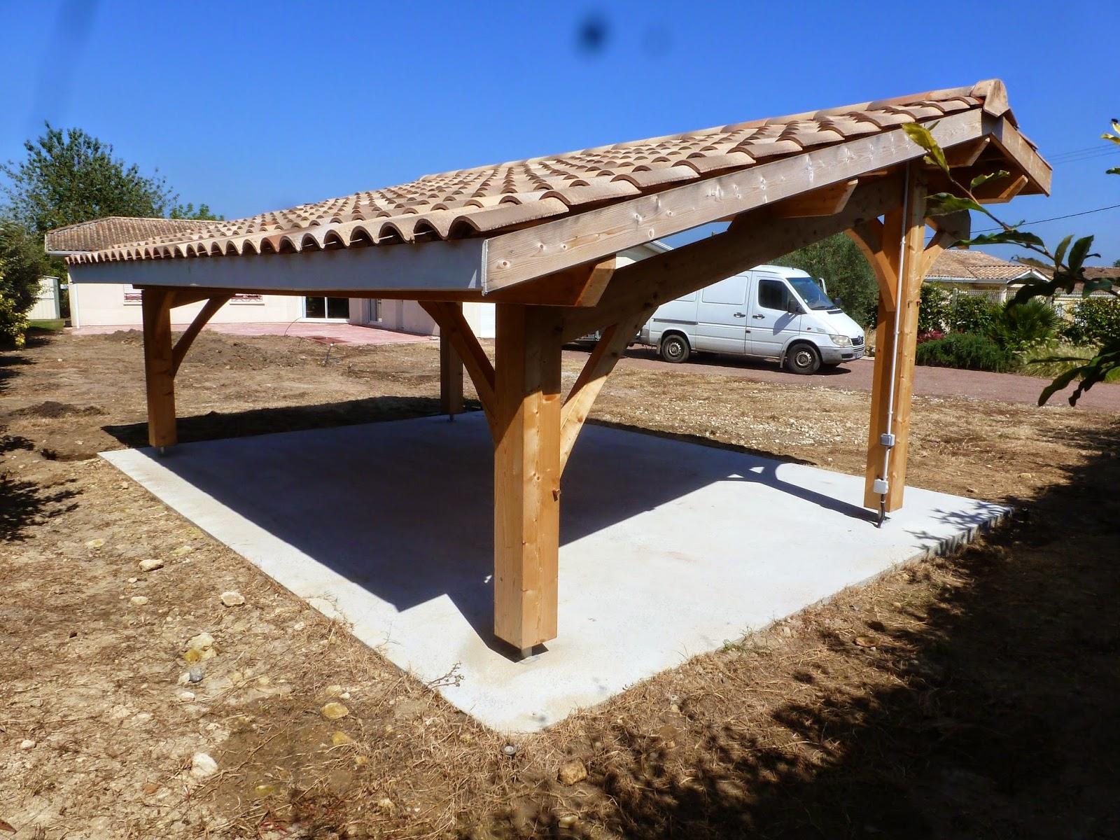 Abris de jardin bois carport voitures bois garage bois auvent voiture bois for Abri voiture en dur