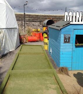 Crazy Mini Golf at Banksy's Dismaland Bemusement Park in Weston-super-Mare. Photo by Matt Dodd