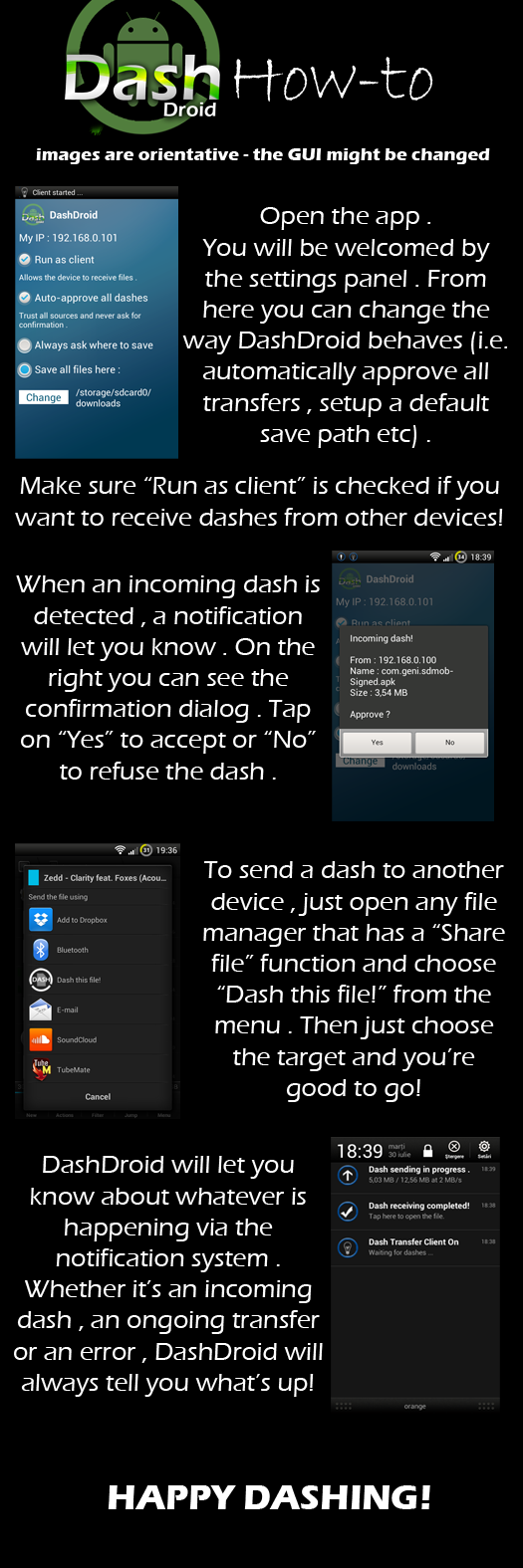 DashDroid Beta - transfer you files effortlessly from Android to PC