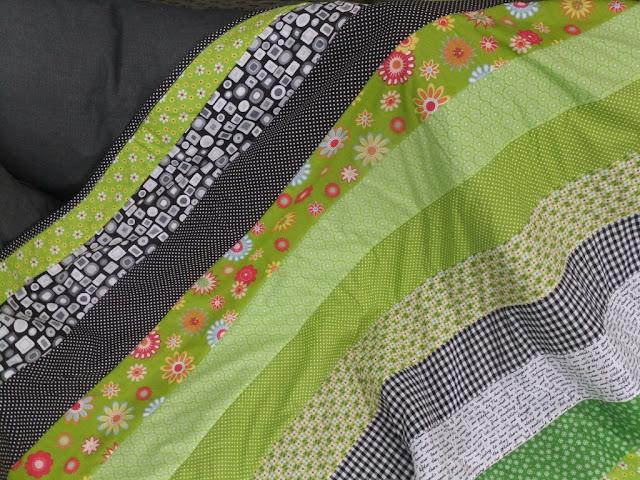 Quilt grün-schwarz