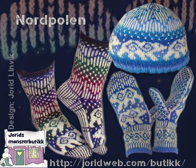 Nordpolen sokker, votter og lue