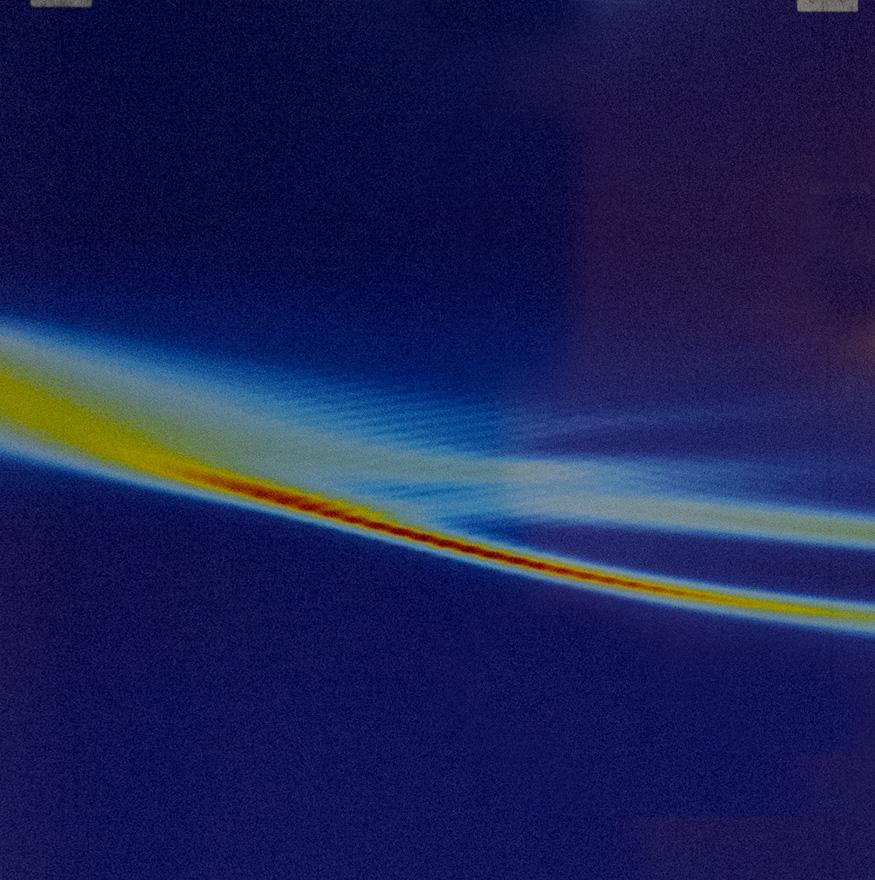 Super onda en una ráfaga, foto de Stefan Skupin, Chistian Koehler y Luc Berge del Instituto Max Planck para la Física de los Sistemas complejos, Dresden, Alemania/ Arpajon, Francia.