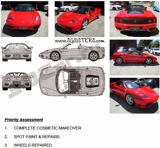 Sam Also Sent Me A Detailed Report On The Work They Have Done On My Car.  Below Are Real Photos Of Before And After Makeover Of My Ferrari.