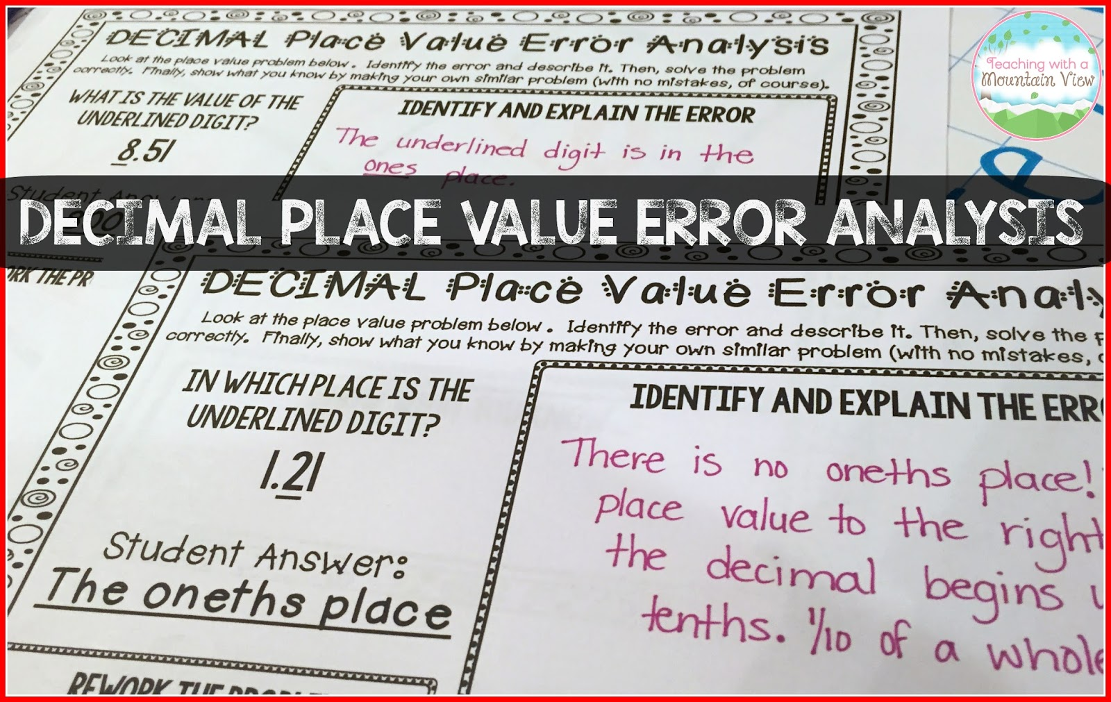 Decimal Place Value Resources & Teaching Ideas | Teaching With a Mountain  View | Bloglovin'