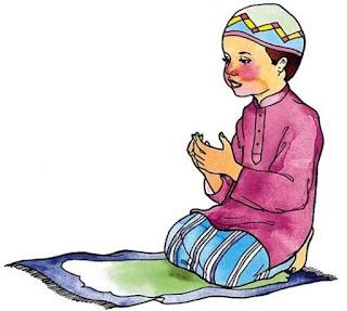 Gambar Kartun Anak Sholeh Laki-Laki Berdoa