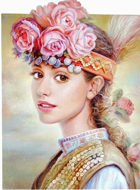 retratos-femeninos-con-flores-al-oleo