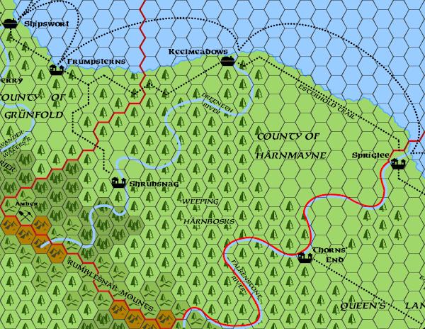 Mystara Alphatia Foresthome Harnmayne map