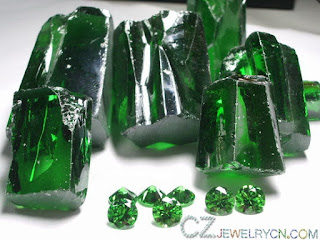 Cubic-Zirconia-Emerald-Green-Color-Round-stones-Supplier