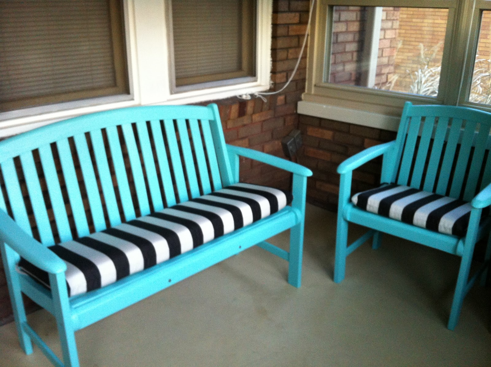 Black front porch chairs - Painted Porch Furniture
