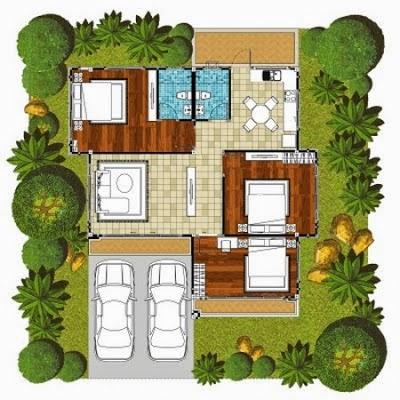 desain rumah minimalis modern dengan 3 kamar tidur