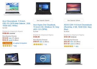 Amazon refined search result