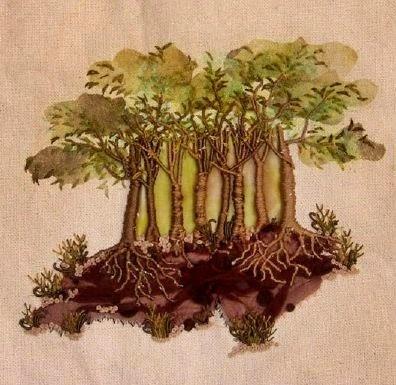 drzewa w hafcie 3D