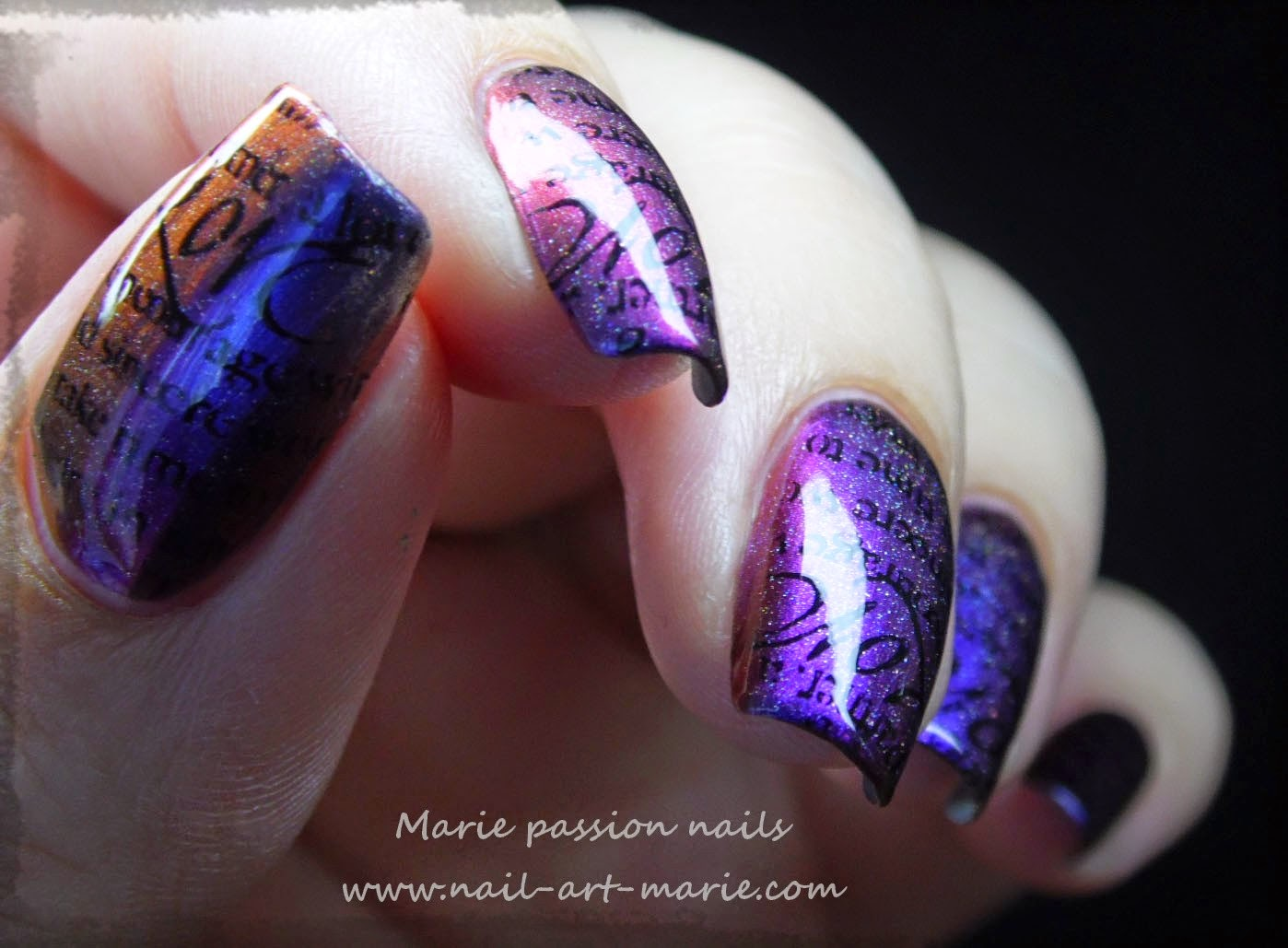 nail art stamping romantique3