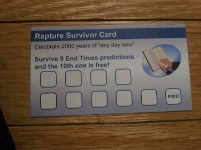 Rapture Punch Card: Survive 9 end of times events and the 10th one is free