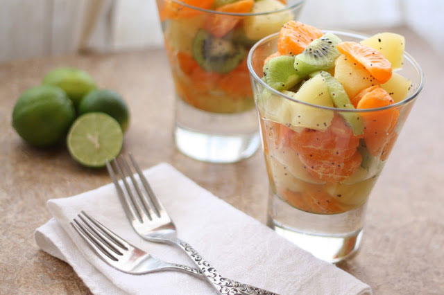 Key Lime and Honey Fruit Salad recipe by Barefeet In The Kitchen