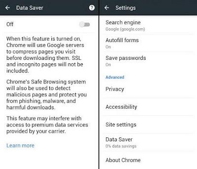 Cara Mengaktifkan Data Server Hp Android Chrome Internet Cepat
