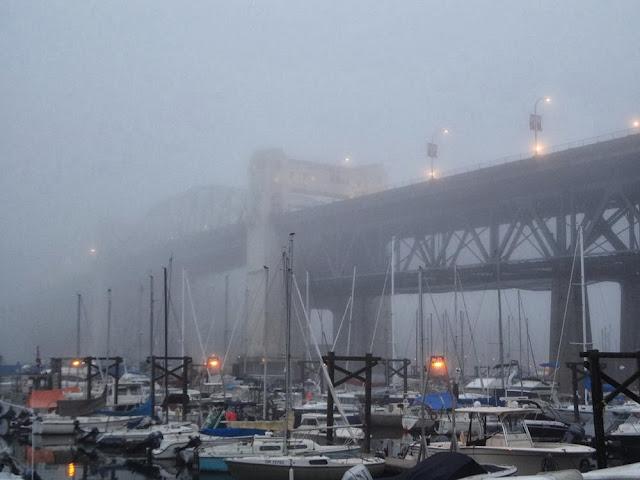 Foggy Vancouver, Burrard Bridge