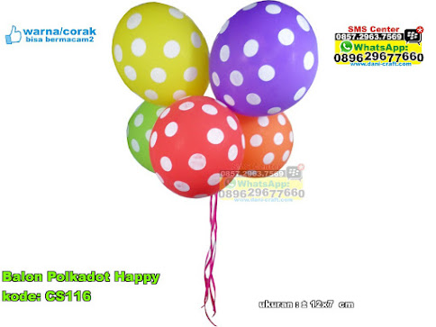 Balon Polkadot Happy