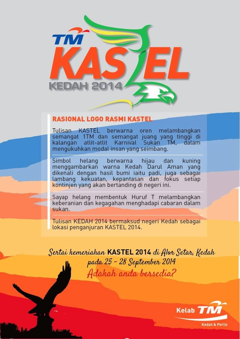 Logo Rasmi TM KASTEL 2014