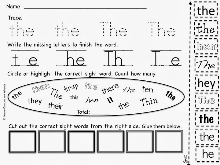 http://www.teacherspayteachers.com/Product/Sight-Words-Practice-Pages-Set-One-722572
