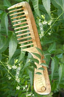 wooden neem comb