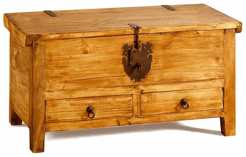Baules coloniales arte antiguo - Baules antiguos de madera ...