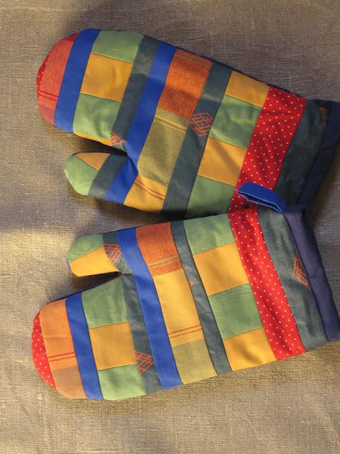 rękawice kuchenne patchwork
