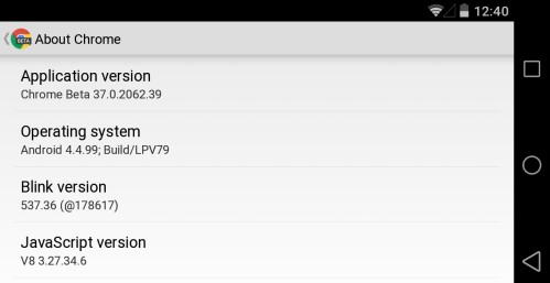 Da Chrome 37 beta si evince che Android L non è la versione 5.0