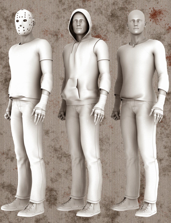 3d Models - Vandals for Genesis 2 Male(s)