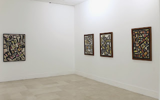 Sala 1 Galería Ascaso. Oswaldo Vigas Constructivista 2013 . Fotografía Gladys Calzadilla