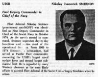 Almirante Nikolai Smirnov Ruso