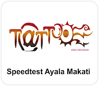 Globe Tattoo Speedtest result Ayala