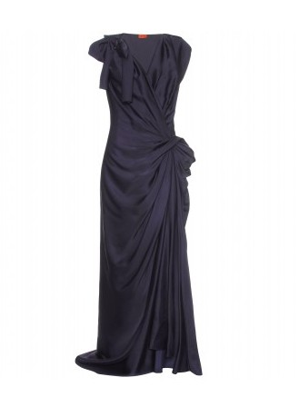 SLEEVELESS GOWN WITH DRAPING