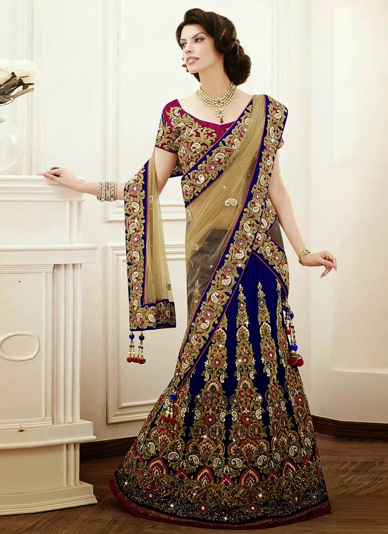 modern fashion grand wedding lehengas n sarees