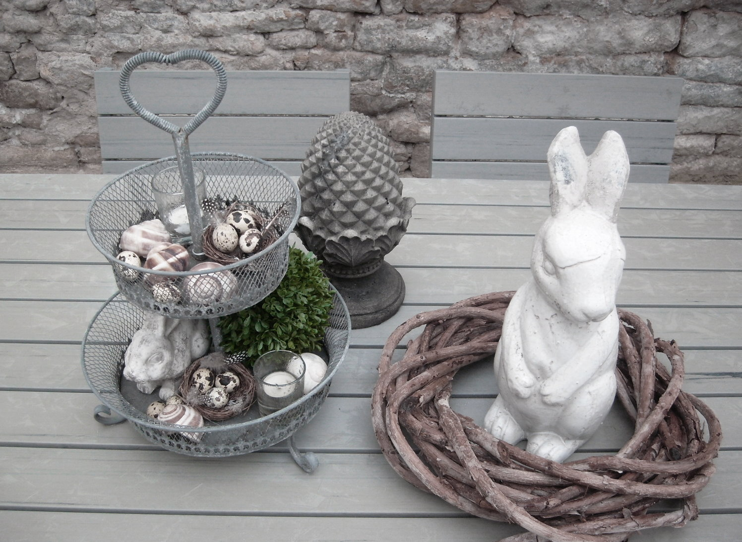 shabby chic co outdoor ostern. Black Bedroom Furniture Sets. Home Design Ideas