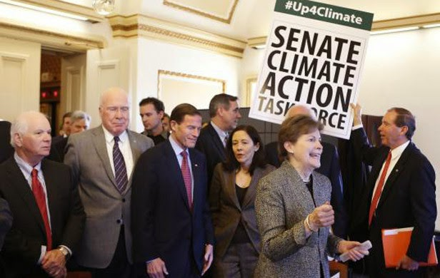U.S. Senators from the Senate Climate Action Task Force urge action on climate change in Washington  (Credit: commonsensecanadian.ca) Click to enlarge.